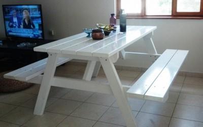 """שולחן קק""""ל לבן מבריק"""