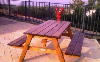 שולחן קקל צבע אגוז